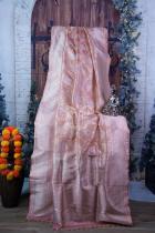 Peach Color Kadhuwa Jaal Pure Katan Silk Banarasi Handloom Saree