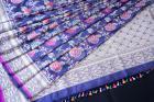 Midnight Blue Meenakari Pure Katan Silk Handloom Saree