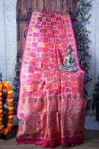 Rangkat Meenakari Pure Katan Silk Banarasi Handloom Saree